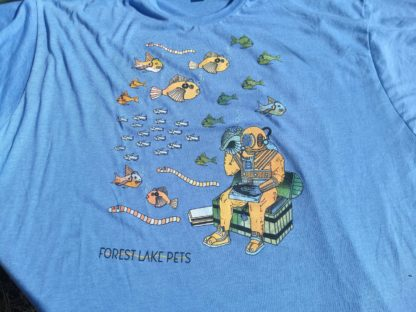 Tee Shirt with deep sea diver